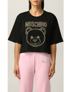 Moschino Couture cotton Tshirt with stud logo