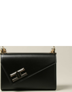 Elisabetta Franchi bag in synthetic leather with asymmetrical flap