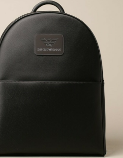 Emporio Armani backpack in saffiano synthetic leather