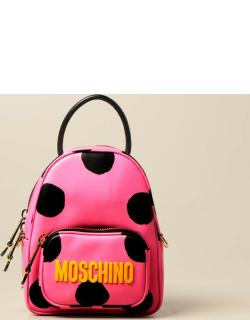 Polka Dots Moschino Couture leather backpack
