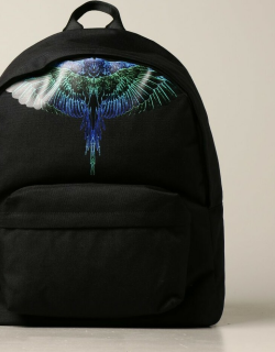 Marcelo Burlon backpack in canvas with wings print