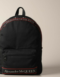 Alexander McQueen backpack in canvas with logo