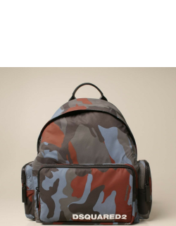 Dsquared2 backpack in camouflage nylon with logo