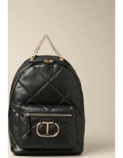 Twinset backpack in quilted synthetic leather