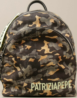 Patrizia Pepe backpack in camouflage canvas