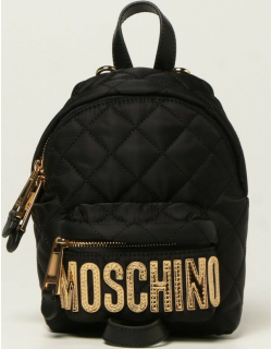 Moschino Couture nylon backpack with maxi laminated logo