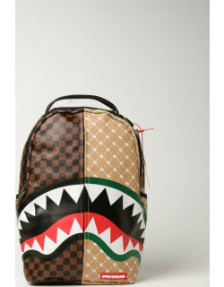 Sprayground backpack in vegan leather with shark mouth
