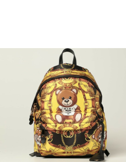 Moschino couture nylon backpack with foulard and teddy print