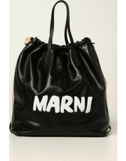 Marni leather backpack with logo