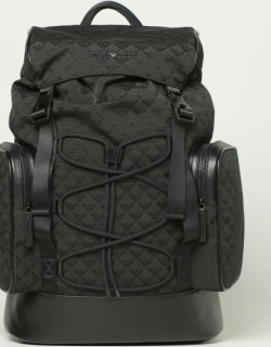 Emporio Armani multipocket backpack with all over logo