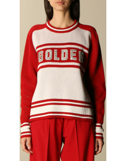 Golden Goose pullover in cotton blend with rhinestone logo