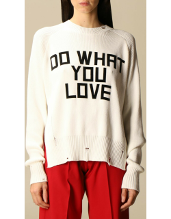 Golden Goose cotton pullover with jacquard writing