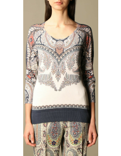 Etro tshirt in paisley patterned cotton