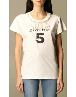 Pinko Tshirt with give me 5 writing and pearls
