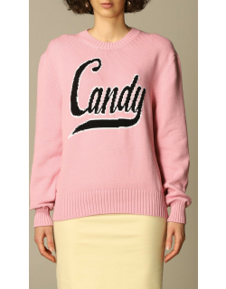 N ° 21 pullover in cotton knit with Candy writing
