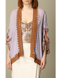 Pinko viscose cardigan with embroidery