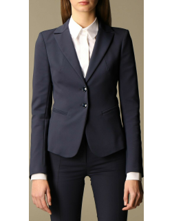 Patrizia Pepe singlebreasted jacket in twoway stretch cotton blend
