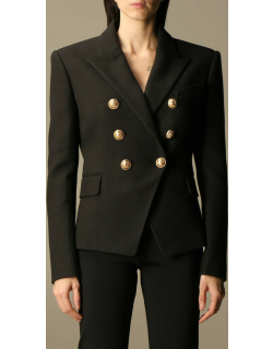 Balmain doublebreasted jacket in piqué cotton