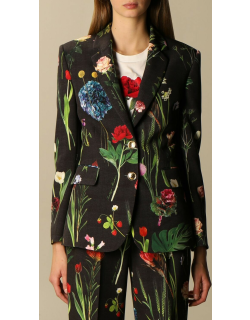 Moschino Boutique singlebreasted jacket with botanical pattern