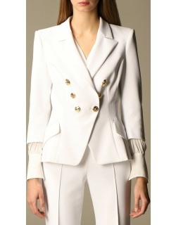 Elisabetta Franchi doublebreasted jacket in technical cady