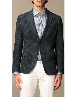 Etro jacket in patterned cotton and wool jersey