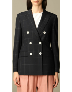 Max Mara doublebreasted jacket in checked wool