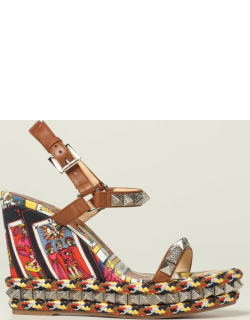 Pyraclou Christian Louboutin wedge sandals in leather with studs