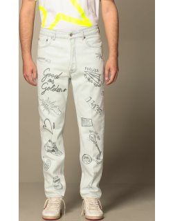 Golden Goose jeans in denim with all over lettering