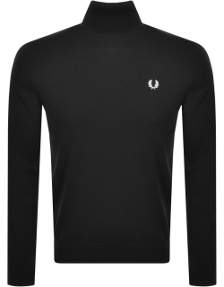 Fred Perry Roll Neck Knit Jumper Black