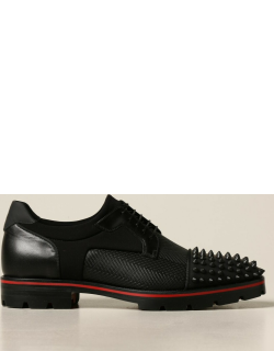 Luis Christian Louboutin shoe in leather with studs