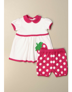 Complete dress + culotte Light Colors with strawberry