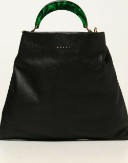 Marni hobo bag in textured leather