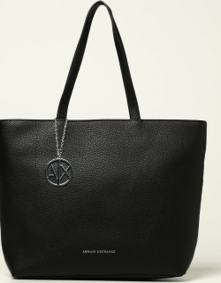 Armani Exchange shoulder bag in textured synthetic leather
