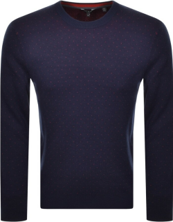 Ted Baker Dotted Jumper Navy