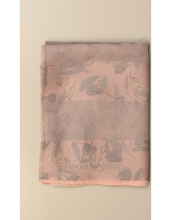 Emporio Armani scarf in patterned silk and cotton