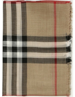 Burberry scarf in wool and silk with check pattern