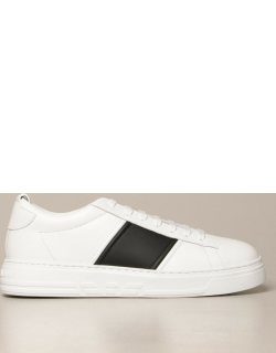 Emporio Armani sneakers in leather with contrasting band