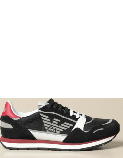 Emporio Armani sneakers in mesh and suede
