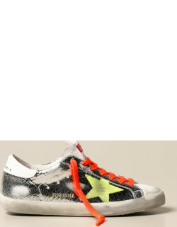 Superstar classic Golden Goose sneakers in crackle laminated leather