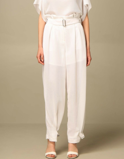 Wide Emporio Armani trousers in cotton and cupro