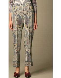 Etro jogging trousers in patterned wool and silk