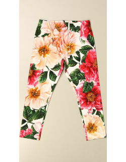 Dolce & Gabbana leggings in stretch cotton with floral pattern