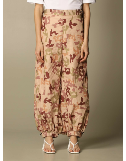 Elon The Attico trousers with camouflage print