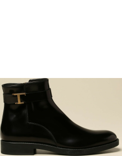 Flat Ankle Boots TODS Women colour Black