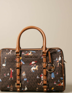 Michael Michael Kors satchel in patterned synthetic leather