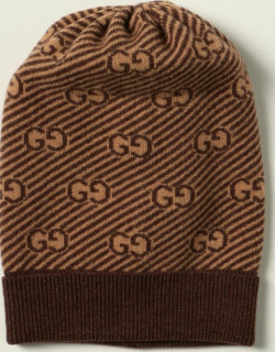 Gucci beanie hat in wool with allover GG logo