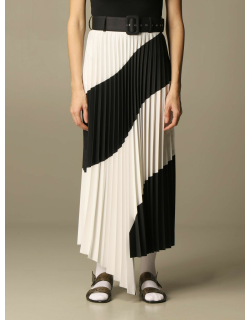 Off White long pleated skirt with logo