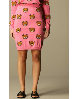 Moschino Couture knitted skirt with allover teddy