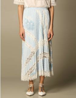 Ermanno Scervino wide pleated skirt with embroidery