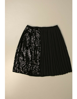 N°21 skirt in pleated fabric and sequin fabric